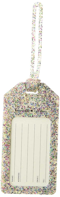 Kate Spade New York Women's Off We Go Multi Glitter Luggage Tag Kate Spade Luggage Tag Multi Glitter (175936)