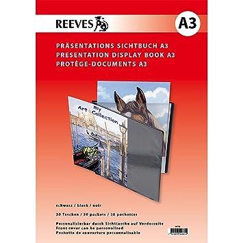 ColArt Reeves - Archivador Personalizable de Fundas Protectoras Transparentes (20 Fundas) DIN A3: Amazon.es: Hogar