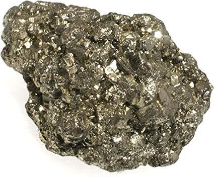 Solar Plexus Chakra BIN-0289 Iron Pyrite Energy Cleanser Approx 34 x 1 One stone Rough  Healing Crystal