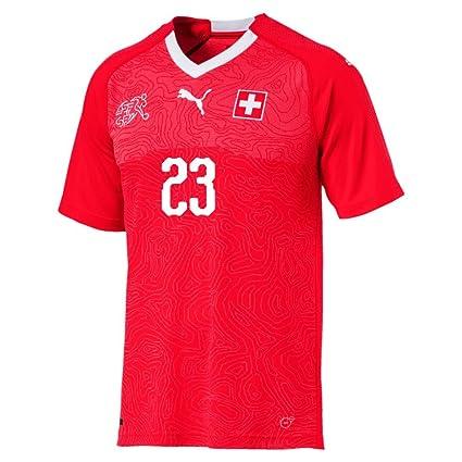 2d376ce663b PUMA Switzerland Home Shaqiri Jersey 2018 2019 (Fan Style Printing) - S