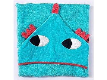 AHIMITSU Toalla acogedora Bebé de Dibujos Animados Monstruo con Capucha Albornoz Toalla con Capucha Toalla de baño Lindo Capa para niños (Azul) Toalla para ...