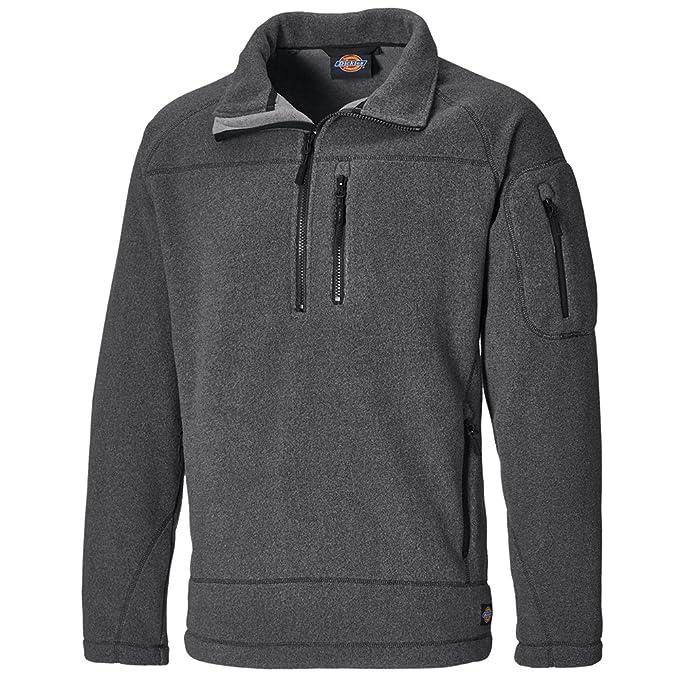 Dickies Brookton Half Zip Fleece Jumper NEW STYLE JW7012 Grey