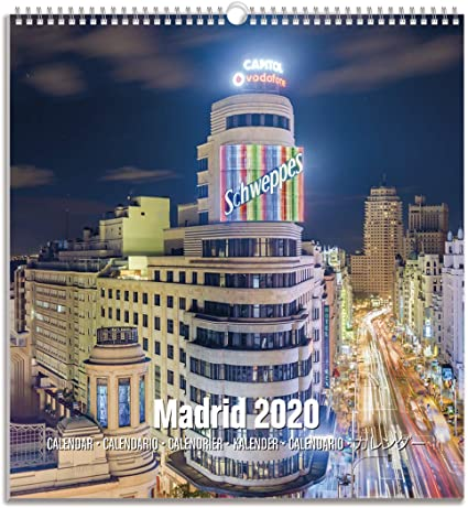 ERIK - Calendario Turístico Mediano 2020 Madrid, 22,5 x 24 cm ...