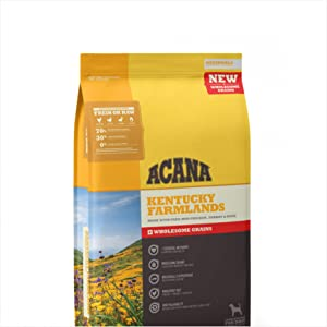 ACANA Kentucky Farmlands Wholesome Grains Dry Dog Food Formula 22.5 Pound Bag (New)