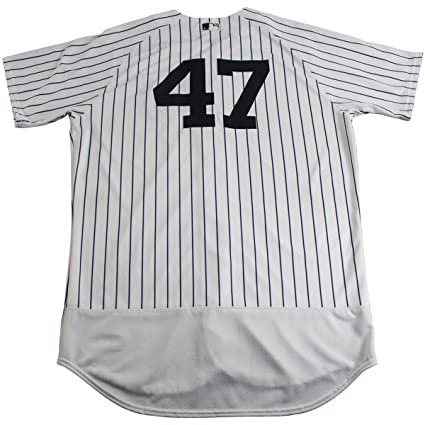 2c3b209ca Image Unavailable. Image not available for. Color  Jordan Montgomery New  York Yankees Game Used  47 Pinstripe Jersey ...