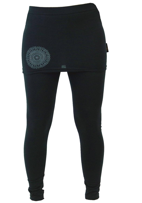 Synthetisch Damen Guru-Shop Yoga-Hose Shorts Leggings Alternative Bekleidung 3//4 Hosen Leggings mit Minirock Bio BW Yogi