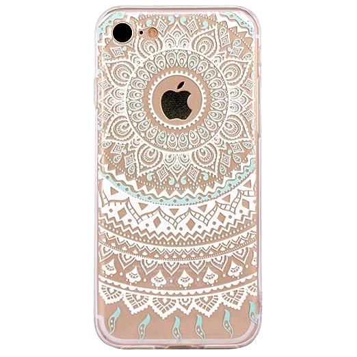 16 opinioni per Cover iPhone 7, JIAXIUFEN TPU Gel Protettivo Skin Custodia Protettiva Shell Case