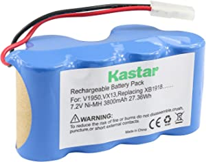 Kastar V1950 Battery (1 Pack), Ni-MH 7.2V 3800mAh, Replacement for Euro-Pro Shark Vacuum V1950 VX3 Replacing XB1918