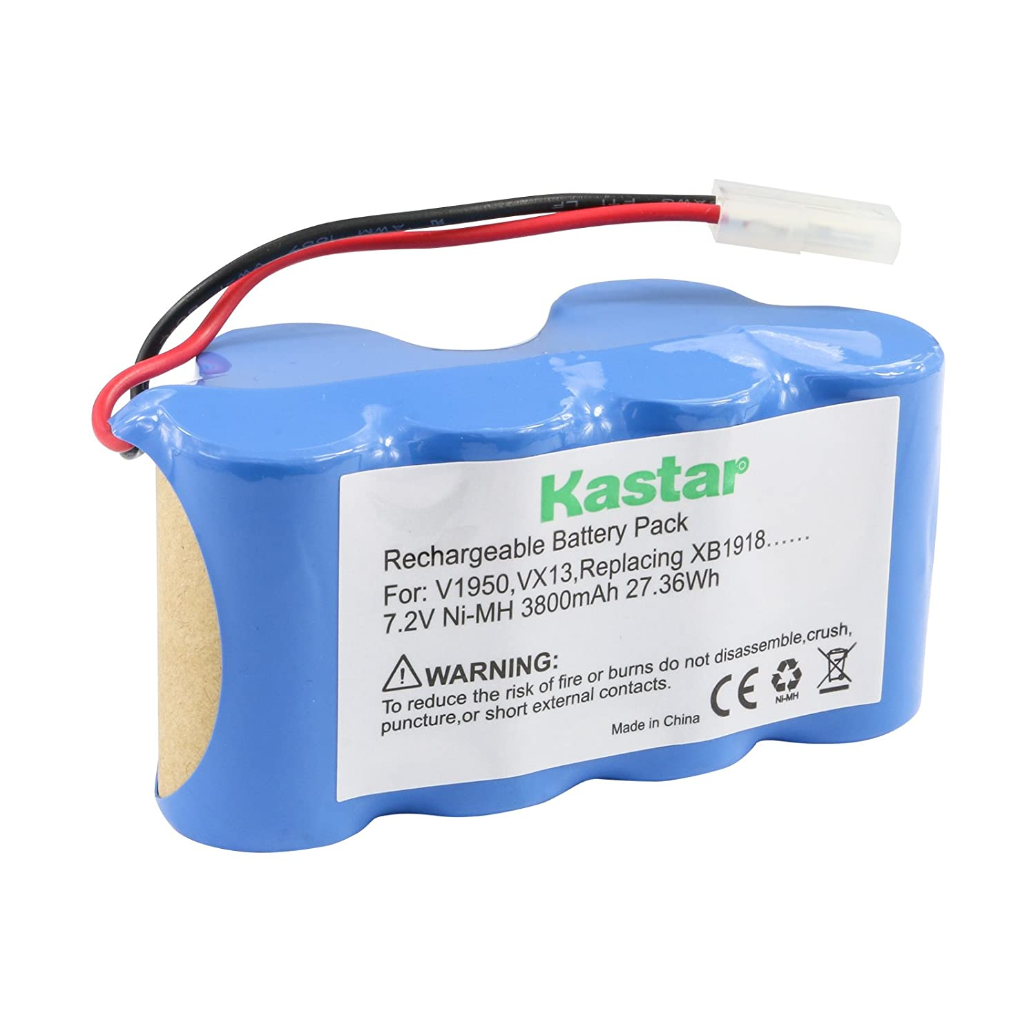 Kastar Battery Pack 7.2V 3800mAh, Replacement for Euro-Pro Shark Vacuum V1950 VX3 V1917 Shark XB1918 Cordless Sweeper