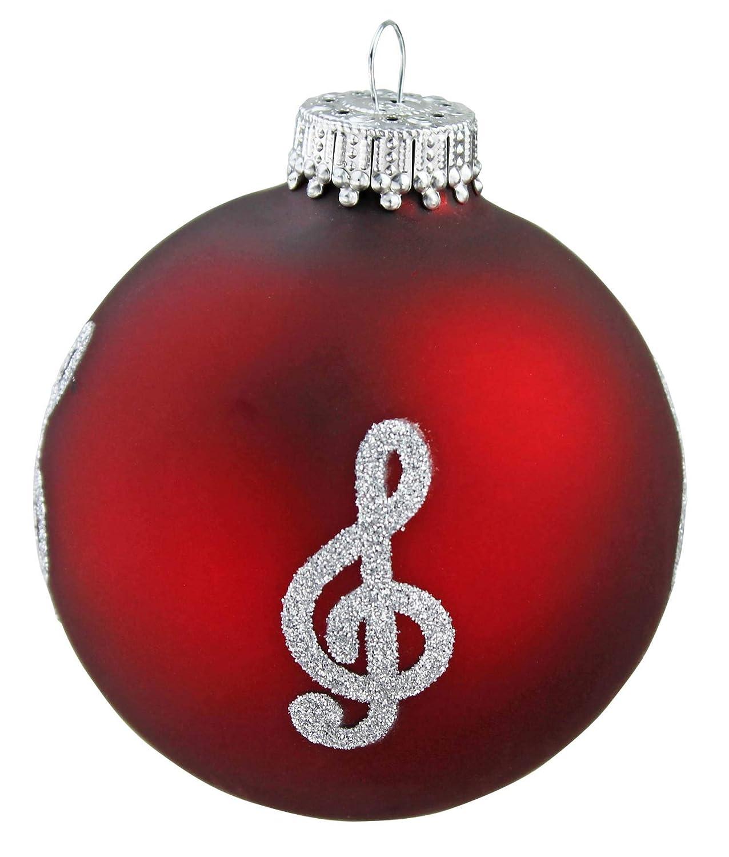 Amazon.de: mugesh Weihnachtskugel Violinschlüssel Bordeauxrot