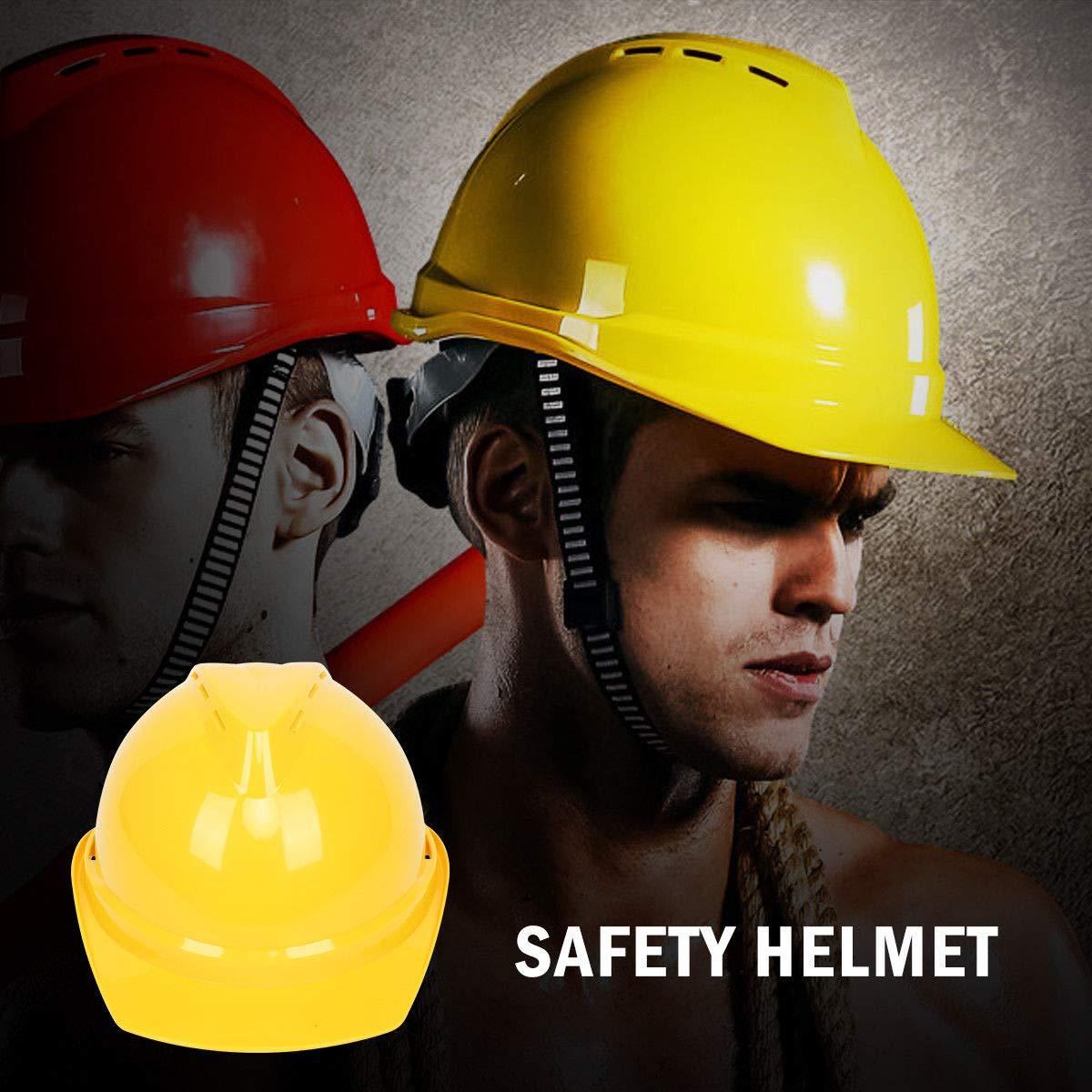 Casco de seguridad para sombrero duro unisex ingenieros rueda de bloqueo de giro con ventilaci/ón para gu/ía MASO EN397 potencias arquitecto escalera 5 colores blanco 4 puntos