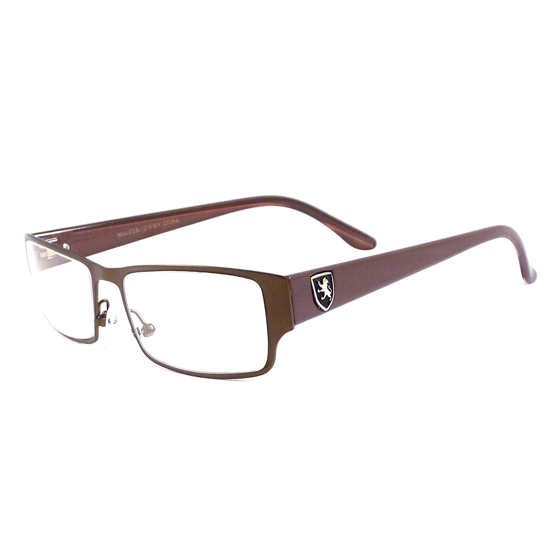 Amazon.com: KHAN Designer Smart Metal Full Frame Clear Lens Eye ...