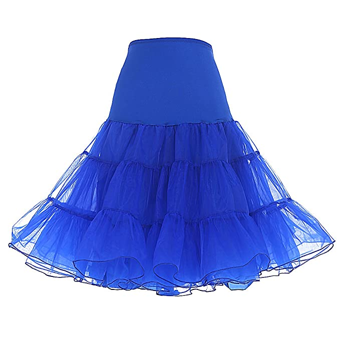 Dresstells reg; Womens Vintage 50s Rockabilly Net Petticoat Skirt Tutu Royal blue S