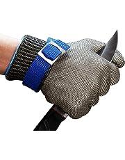 ConPush Guanti Antitaglio Acciaio Inox Rete Metallica Guanto per cucina e macellai e pesca, misura M