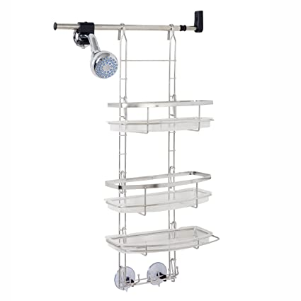Amazon.com: Zenna Home 2602ST, Make-A-Space Shower Caddy, Stainless ...