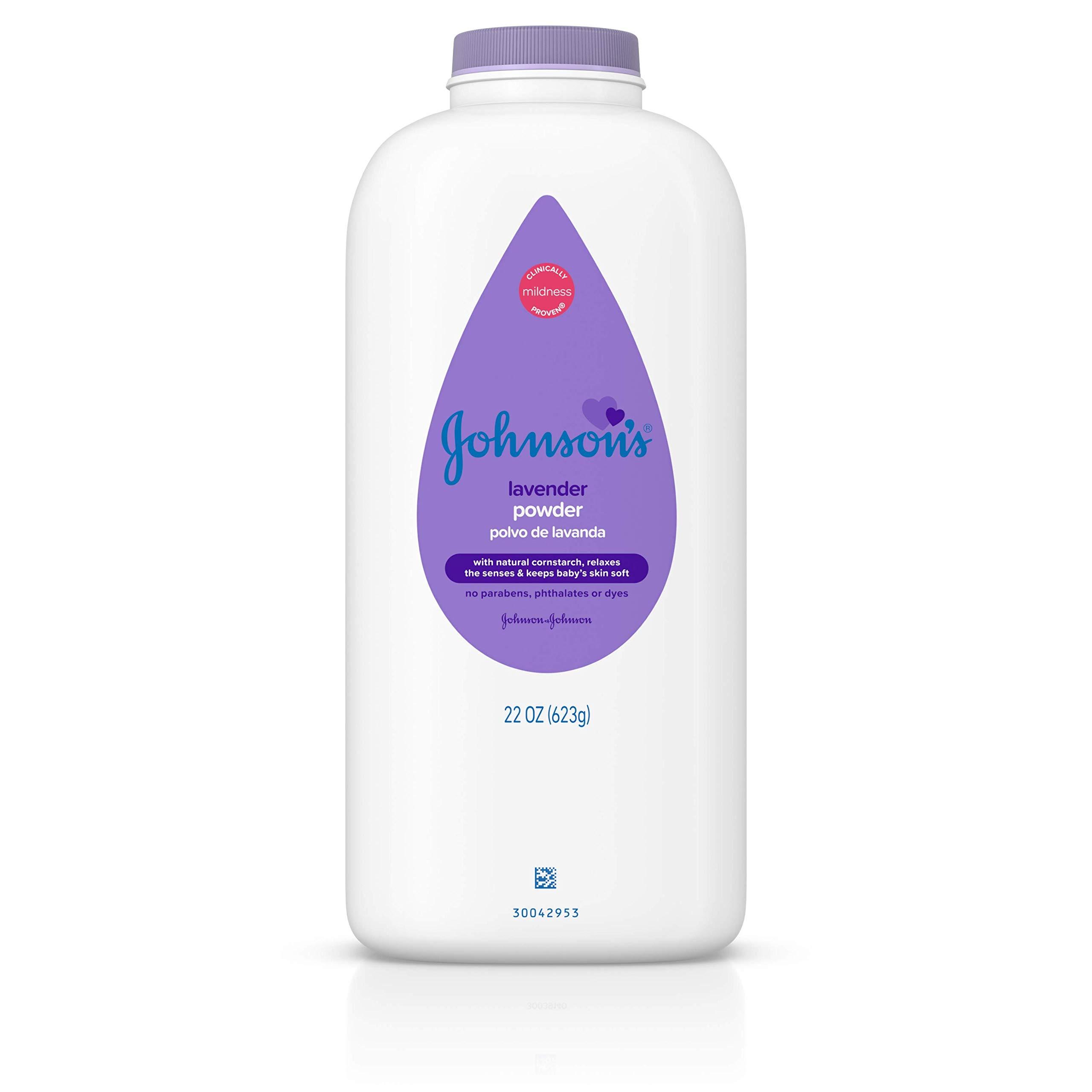 JOHNSON'S Baby Powder Calming Lavender 22 oz (Pack of 4)