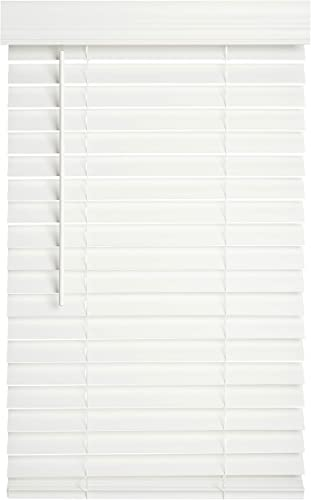 Lotus Windoware 2 Faux Wood Blinds, 34 x 60 , White FCX3460WH