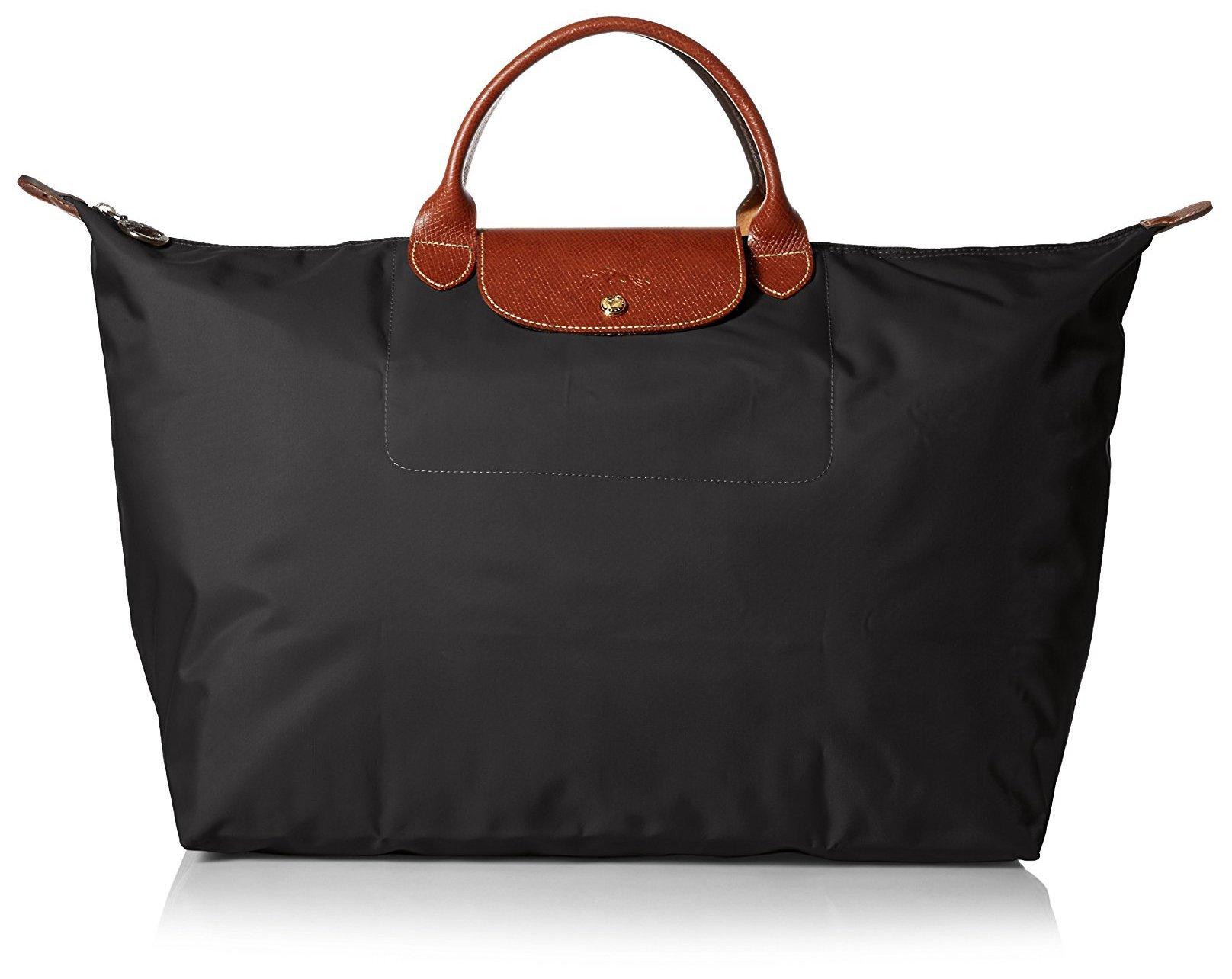 Longchamp Le Pliage Large Travel Bag, Black, 17.75'' x 13.75'' x 9''