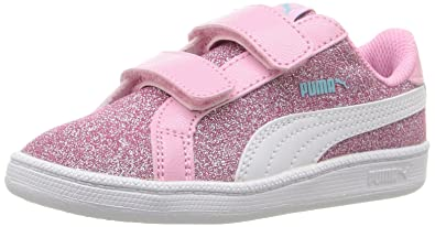 PUMA Girls Smash Glitz Glamm V Inf Chukka Beetroot Purple White 8d868c841