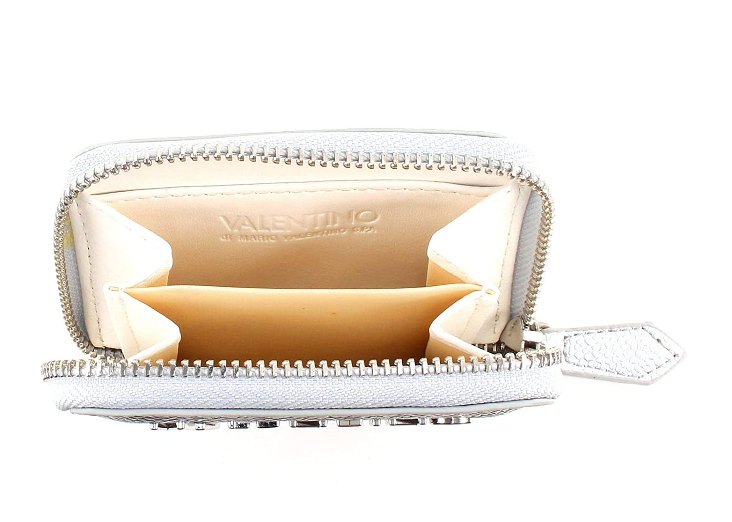 057acbef3c9f VALENTINO Divina Zip Around Wallet XS Argento  Amazon.co.uk  Shoes   Bags