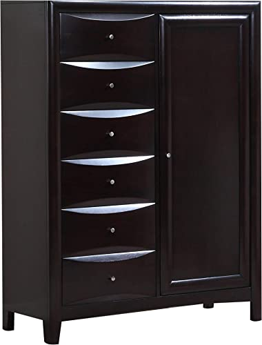 Phoenix 8-Drawer Man s Chest Cappuccino