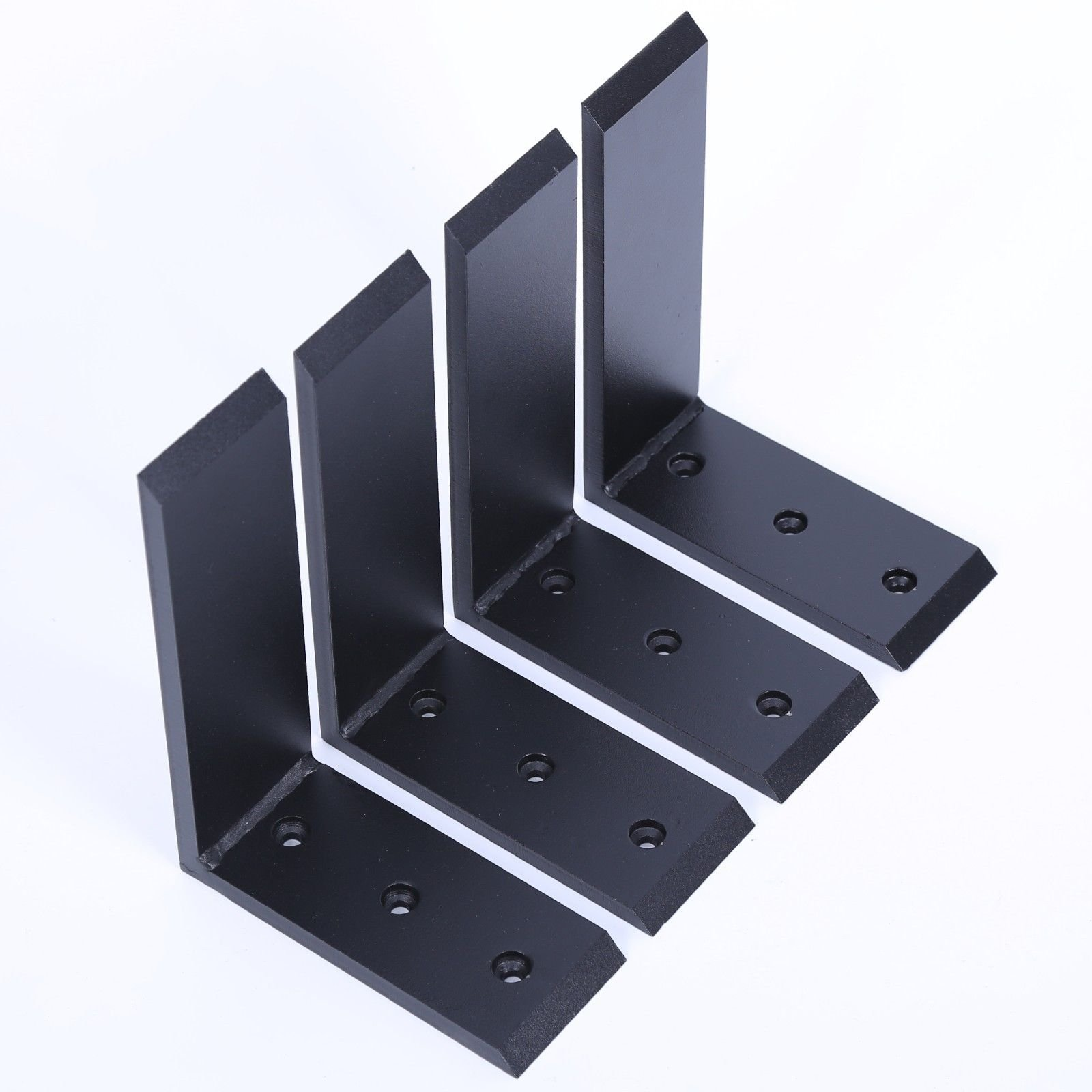 "Adumly Set of 4 Pcs Heavy Duty Black Steel 6""x8"" Countertop Support Brackets! Corbel Lot L Shelf"