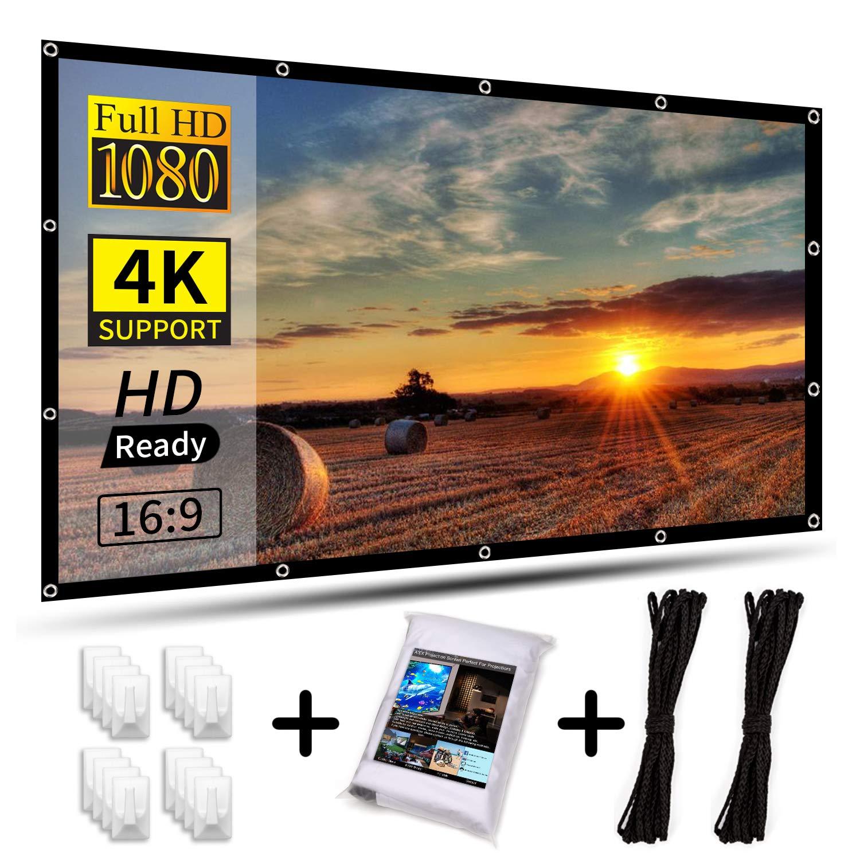 """AIEX 120""""16:9 4K HD Pantalla para Proyector Portátil Plegable ..."""