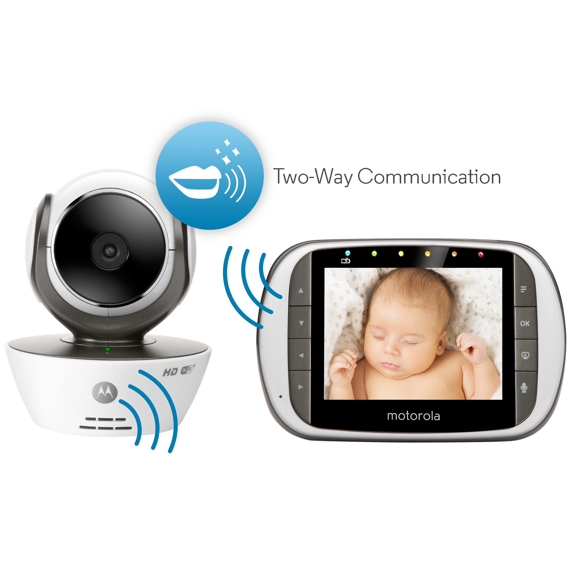 Motorola MBP853CONNECT-2 Dual Mode Baby Monitor with 2 Cameras and 3.5-Inch LCD Parent Monitor and Wi-Fi Internet Viewing by Motorola Baby (Image #2)