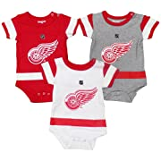 Outerstuff Detroit Red Wings Baby/Infant Hockey Jersey Style 3 Piece Creeper Set 6-9 Months