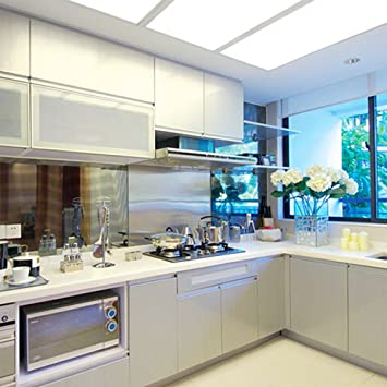 Gloss White Kitchen Cupboard Cover Self Adhesive Vinyl Door Wall Sticker 250cm