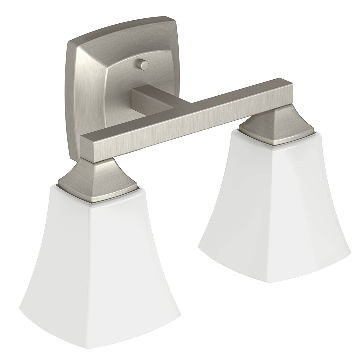 Amazon.com: Moen YB5162BN Voss Bath Lighting Two Globe, Brushed ...