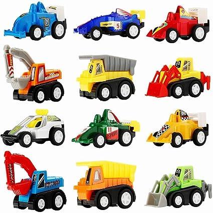 Amazon Com Toys Cars For Kid Tisy Pull Back Construction Vehicles