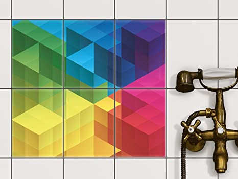 Decorazione per piastrelle 15 x 15 cm adesivi da parete deco