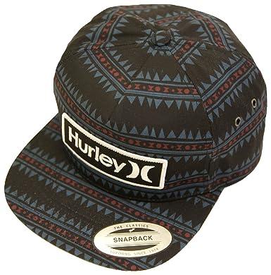 new style 14ca2 824ea Hurley Beach Cruiser Classic Snapback Mens Hat OSFM Black Blue Red