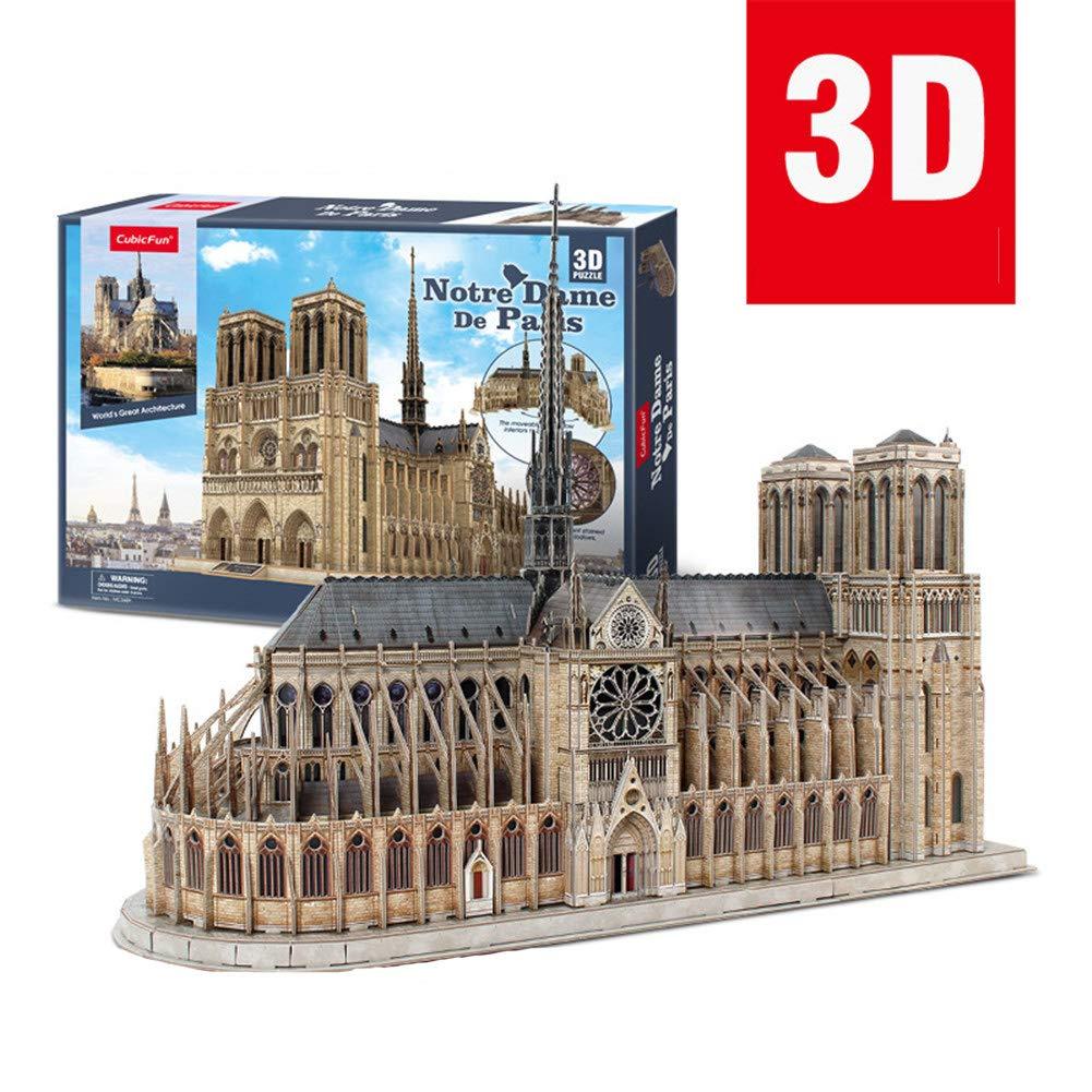 【超歓迎された】 3D B07QZRYQW5 立体紙パズル子供のための教育玩具 3D、子供の男の子 DIY 建設模型玩具記念ギフト (ノートルダムドパリ) 180 °回転 °回転 B07QZRYQW5, ナイトウェア&小物 かつうら:c188dd87 --- a0267596.xsph.ru