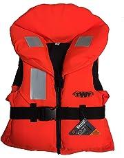 TWF Kids 100N Approved Life Jacket Childs Children Boys Girls Orange Lifejacket
