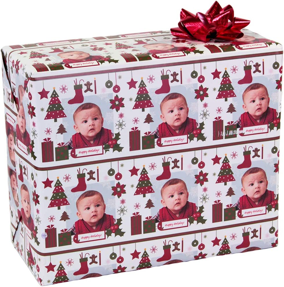 Christmas Custom Gift Wrap Wrapping Pa Personalized Max 84% Gifts OFF Photo