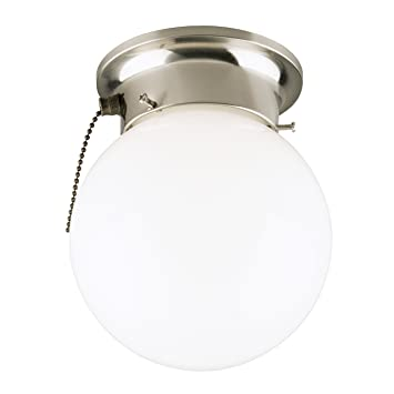 Westinghouse 6720800 one light flush mount interior ceiling westinghouse 6720800 one light flush mount interior ceiling fixture with pull chain brushed aloadofball Images