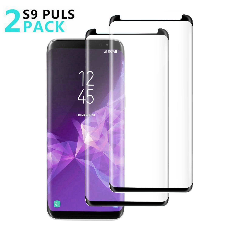 [2 - Pack] Samsung Galaxy S9 Plus Screen Protector, OLINKIT [9H Hardness][Anti-Fingerprint][Ultra-Clear][Bubble Free] Tempered Glass Screen Protector Galaxy S9 Plus