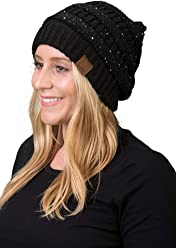 bd79f033c5c Funky Junque Solid Ribbed Beanie Slouchy Soft Stretch Cable Knit Warm Skull  Cap