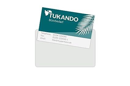 100 Visitenkartentaschen Selbstklebend Transparent Und Glasklar Für Visitenkarten Bis 90x55mm 100 Stück