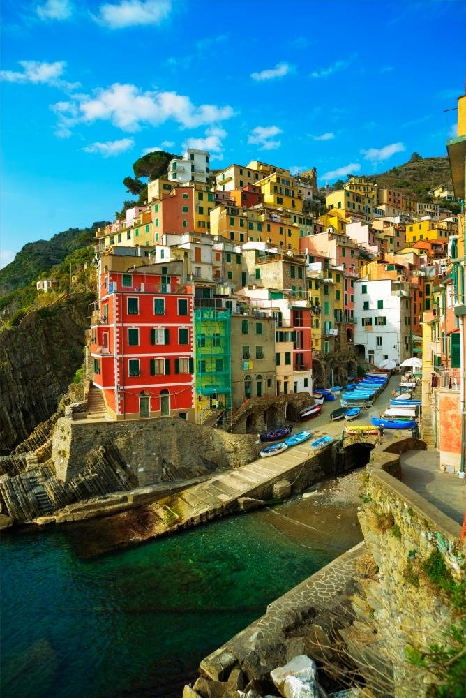 Riomaggiore Cinque Terre Wall Mural Decal by Wallmonkeys
