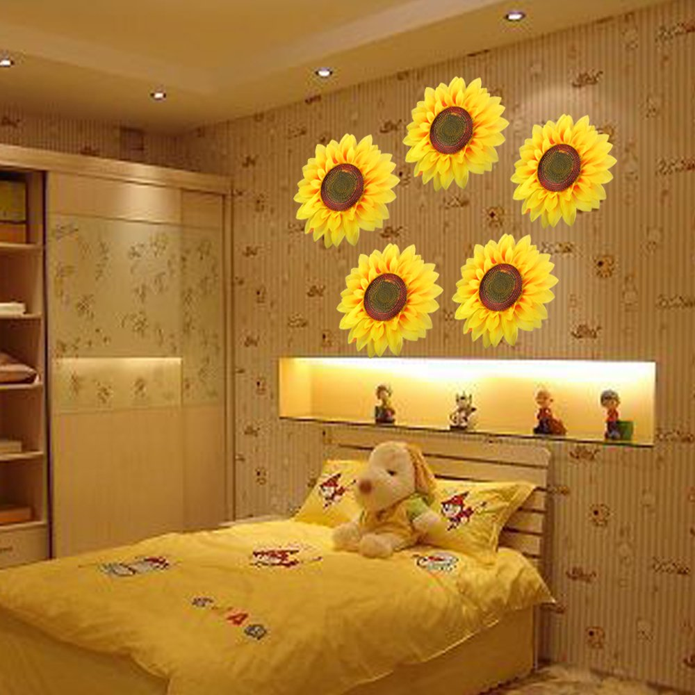 amazon com kids wall stickers gtidea vived 3d slik large amazon com kids wall stickers gtidea vived 3d slik large sunflowers wall art mural decal stickers flowers diy children bedroom nursery parlour wall