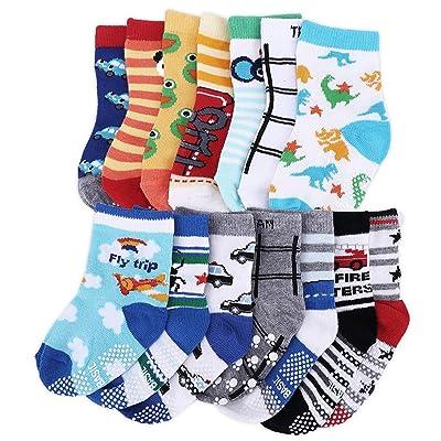 14Pairs Anti Skid Socks Toddler Girl Boy Non Slip Socks for Kids