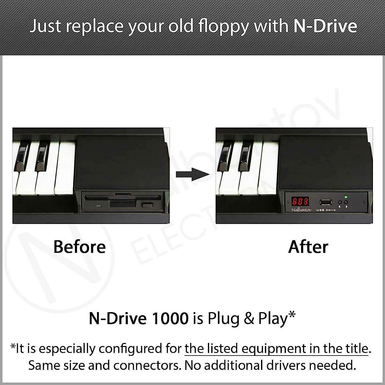 Nalbantov N-Drive 1000 un emulador de disquetera USB para Yamaha Tyros 1 PSR 340/350/450/540/550