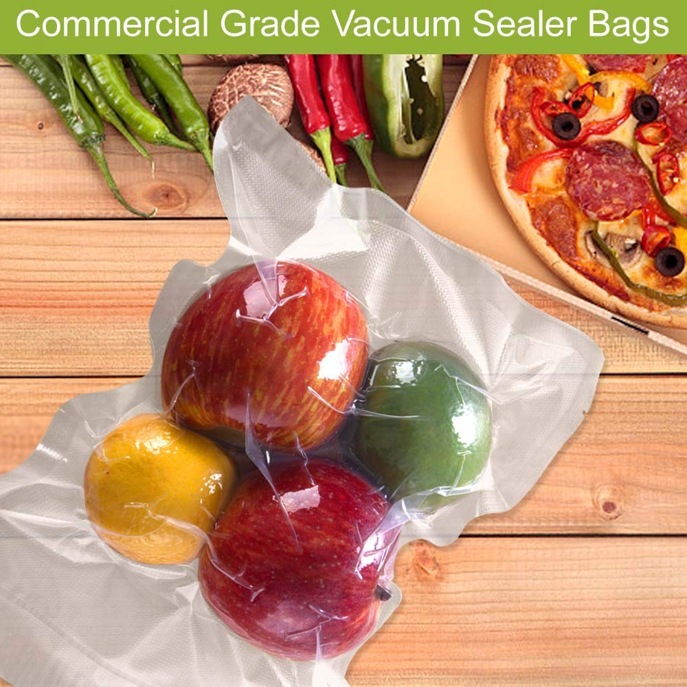 Premium!200 Pint 6 x 10 Inch Vacuum Sealer Storage Bags Size for Food Saver,Vac Seal a Meal Bags BPA Free, Heavy Duty Commercial Grade Freezer & Sous Vide Vaccume Safe PreCut Bag