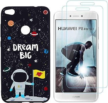 Reshias Coque Huawei P8 Lite 2017 Silicone Noir (Astronaute ...