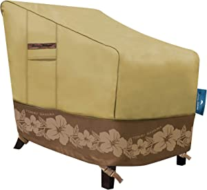 Tommy Bahama 29101 Lounge Deep-Seat Patio Chair Cover, Tan/Brown