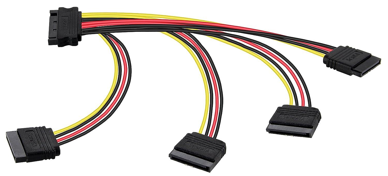 Poppstar - 1x 20cm Adaptador SATA Cable de alimentación (4 vías ...