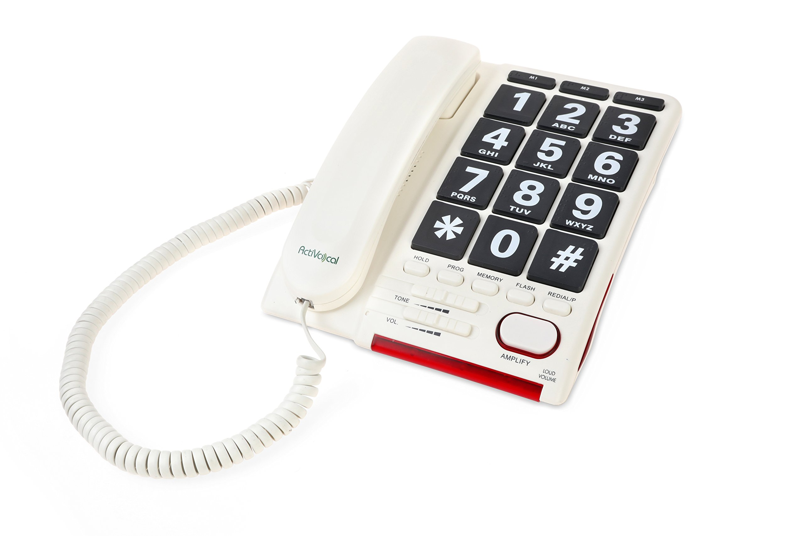 AmpliTalk 100 - the World's First Amplified, Voice Dialer Landline Phone with Braille Keys!